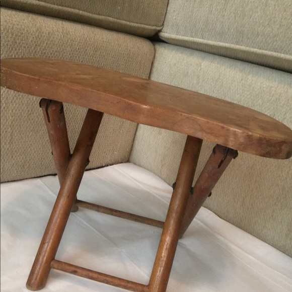 Enjoyable Vintage Nevco Foldn Carry Wooden Stool Onthecornerstone Fun Painted Chair Ideas Images Onthecornerstoneorg
